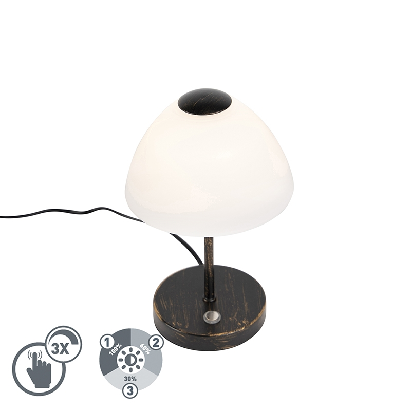 Design tafellamp zwart dimbaar incl. LED - Joya