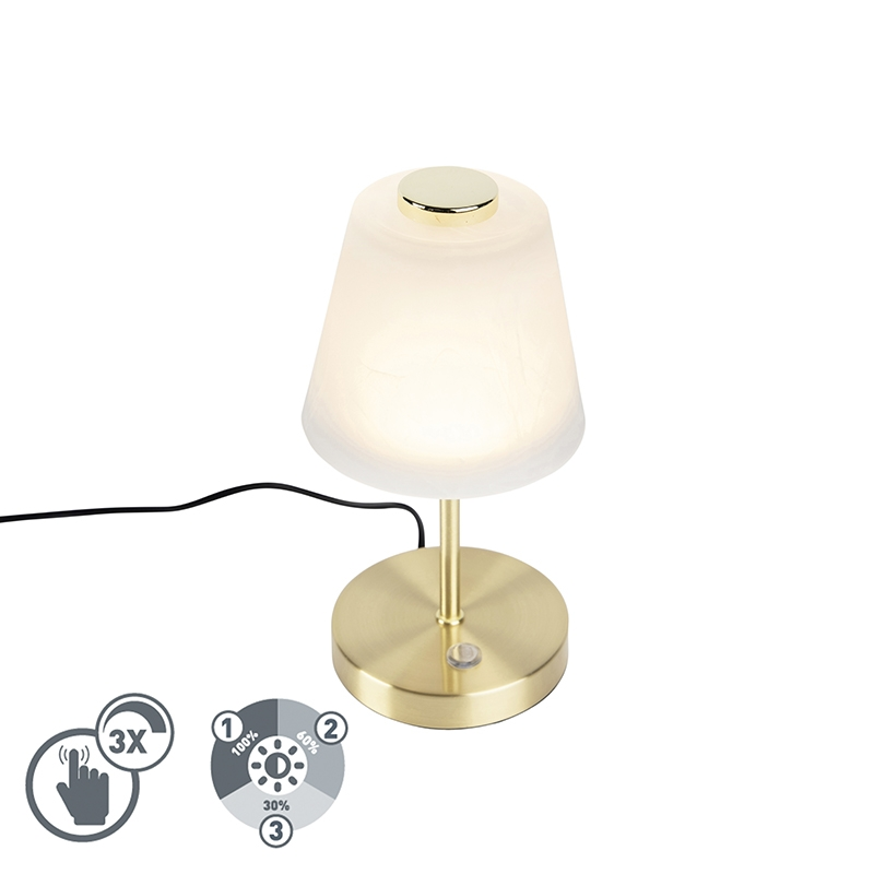 Design Tafellamp Goud Dimbaar Incl. Led - Regina