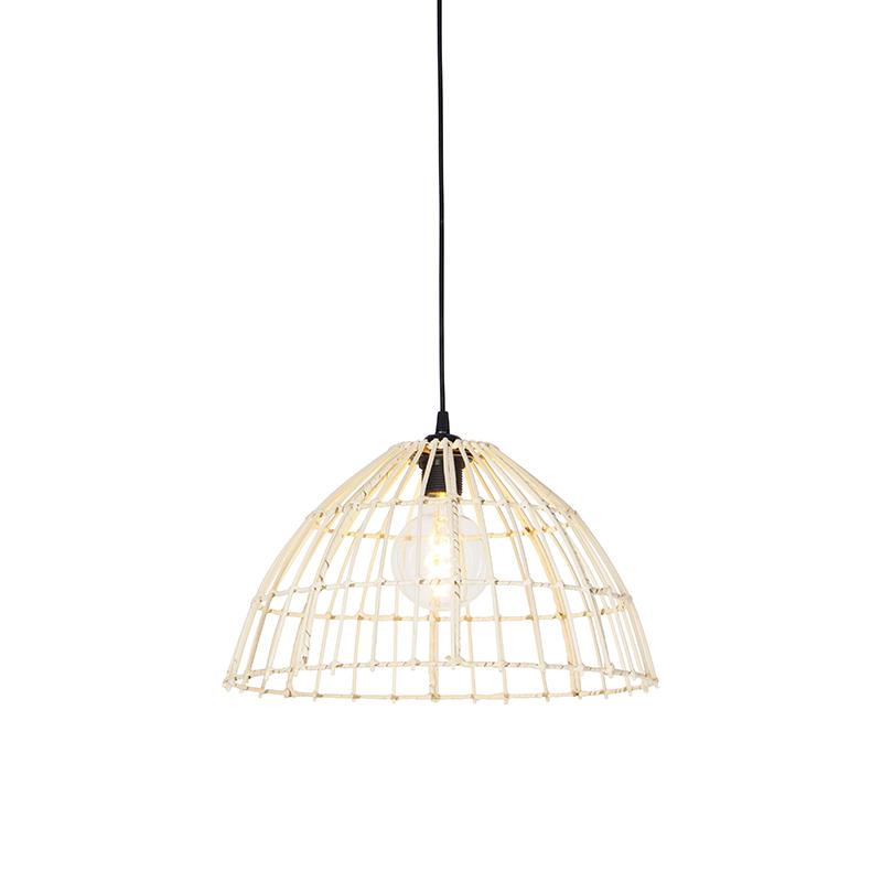 Landelijke hanglamp rotan 40 - Magna