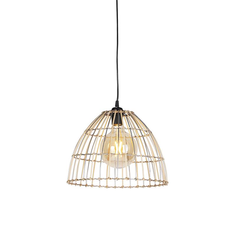 Landelijke hanglamp rotan 33 cm - Magna
