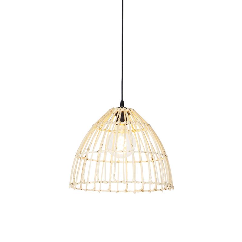 Landelijke hanglamp rotan 35 cm - Magna