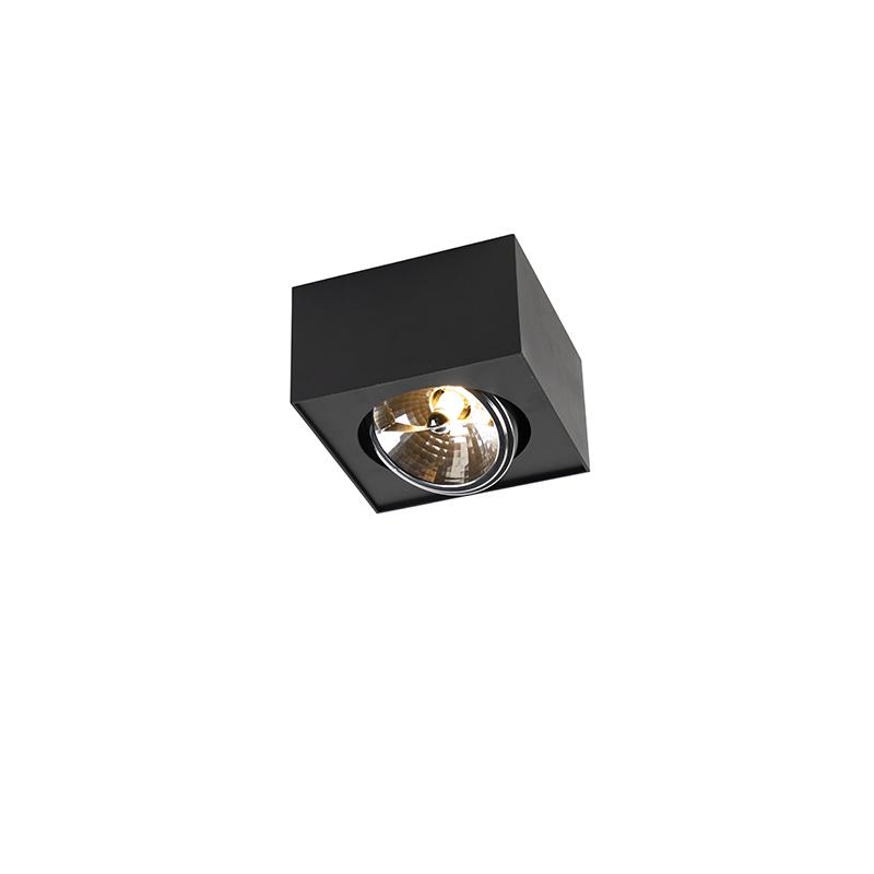 Designerski spot kwadratowy 1-źródło światła G9 czarny - Kaya