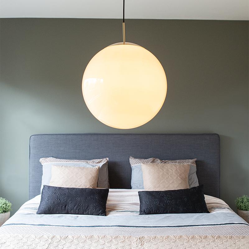 Scandinavische hanglamp opaal glas 40 cm - Ball 40