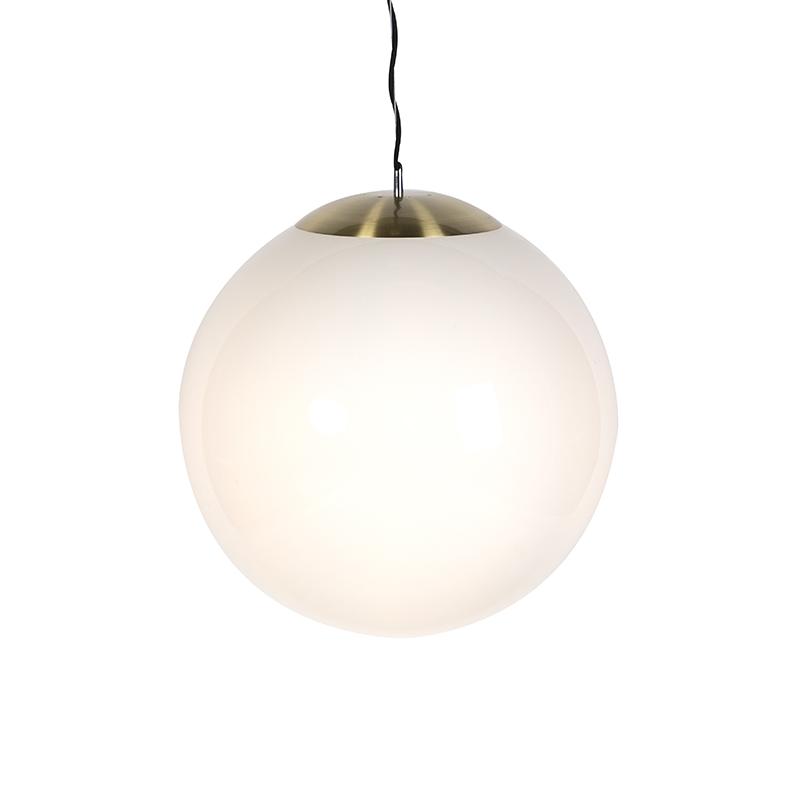 Skandynawska lampa wisząca mleczne szkło 50cm - Ball