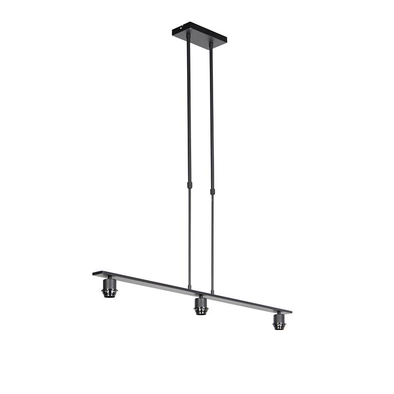 Hanglamp zwart zonder kap - Combi 3 Deluxe