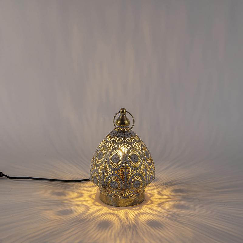 Oosterse tafellamp goud 19 cm - Mowgli