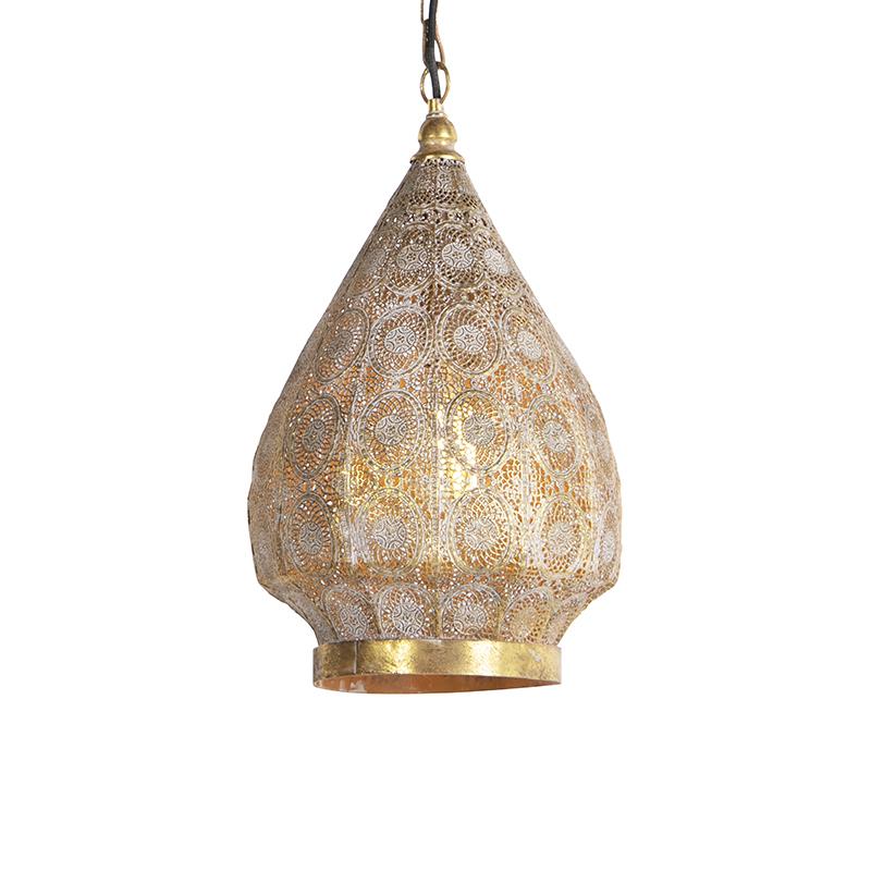 Oosterse hanglamp goud 28 cm - Mowgli