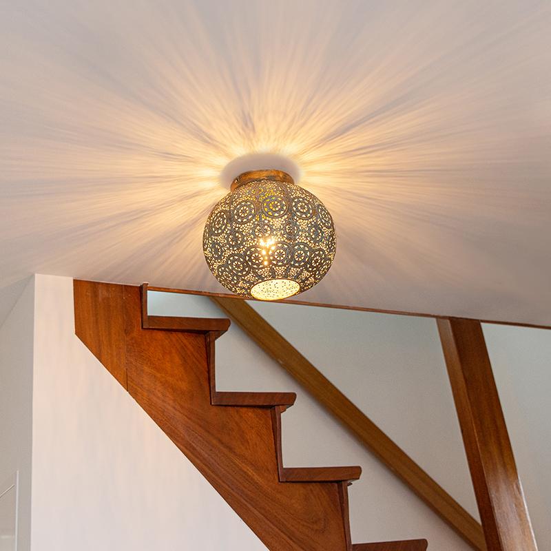 Oosterse plafondlamp 28,5 cm - Baloo
