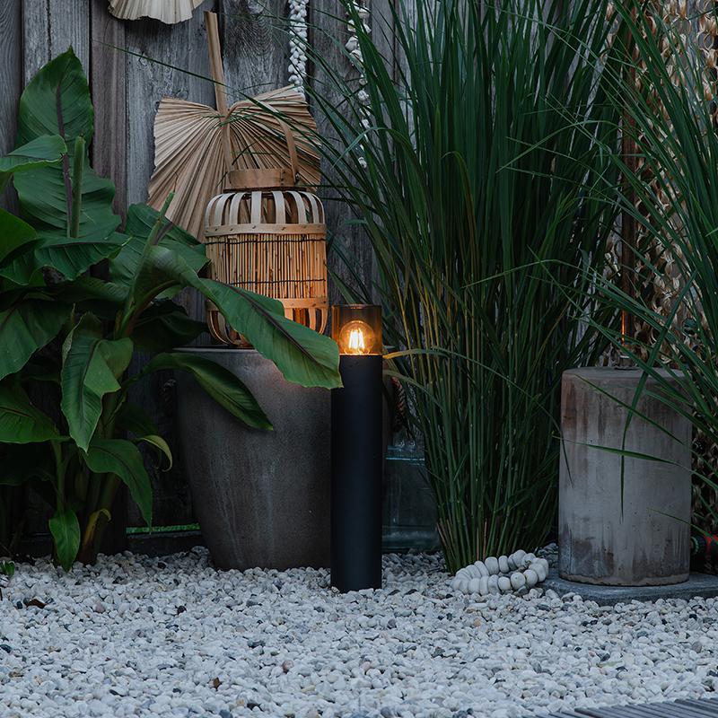 Moderne staande buitenlamp zwart 50 cm - Odense
