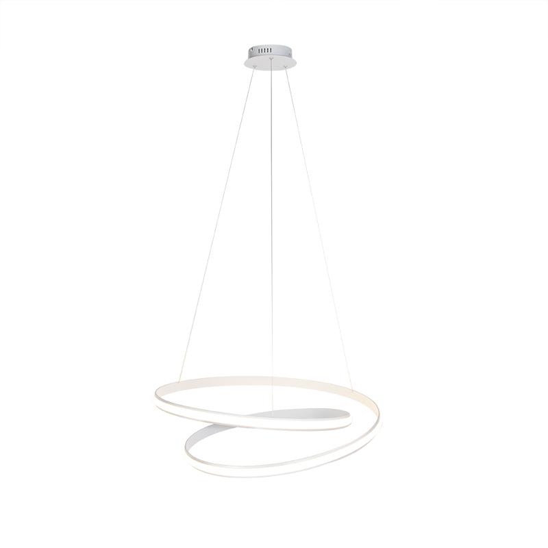 Moderne hanglamp wit 74cm incl. LED 3 staps dimbaar - Rowan