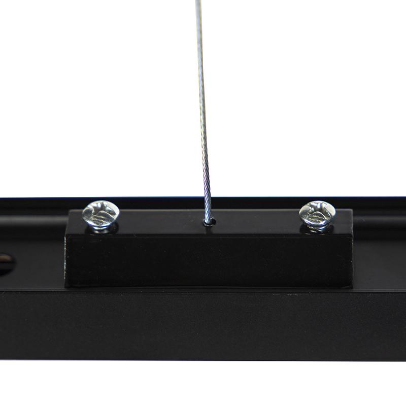 Ophanging voor 1-fase rail zwart