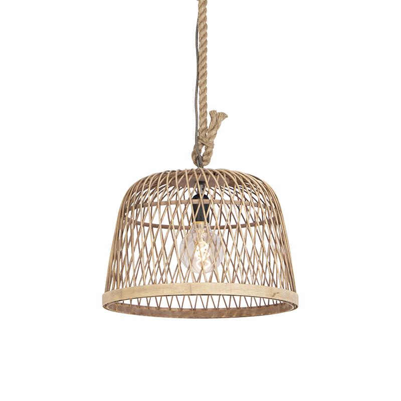 Rustykalna lampa wisząca rattan - Calamus
