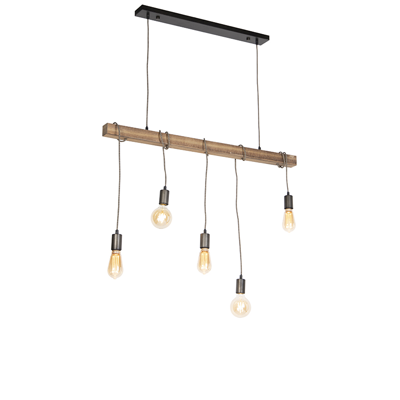 Industriele hanglamp zwart - Gallow