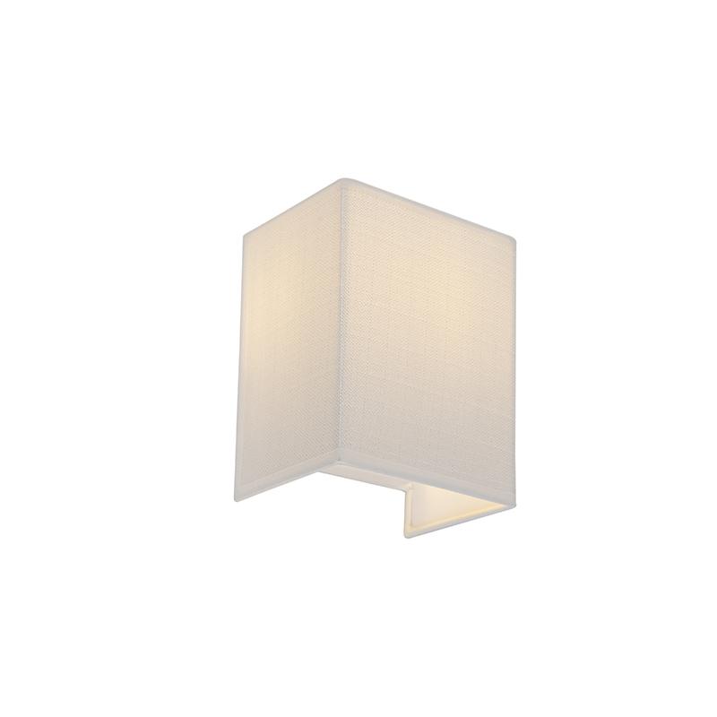 Moderne wandlamp jute wit - Vete