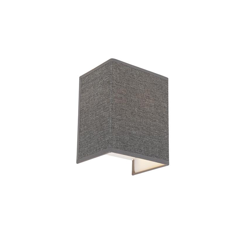 Moderne wandlamp jute grijs - Vete