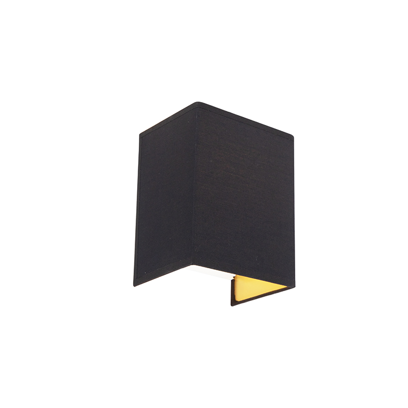 Moderne wandlamp zwart en goud - Vete