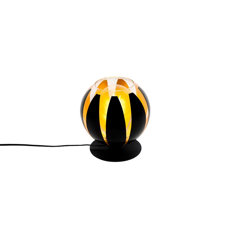 Moderne tafellamp zwart 20cm - Melone