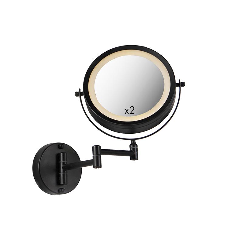 Design badkamerspiegel zwart incl. LED verstelbaar IP44 - Vicino