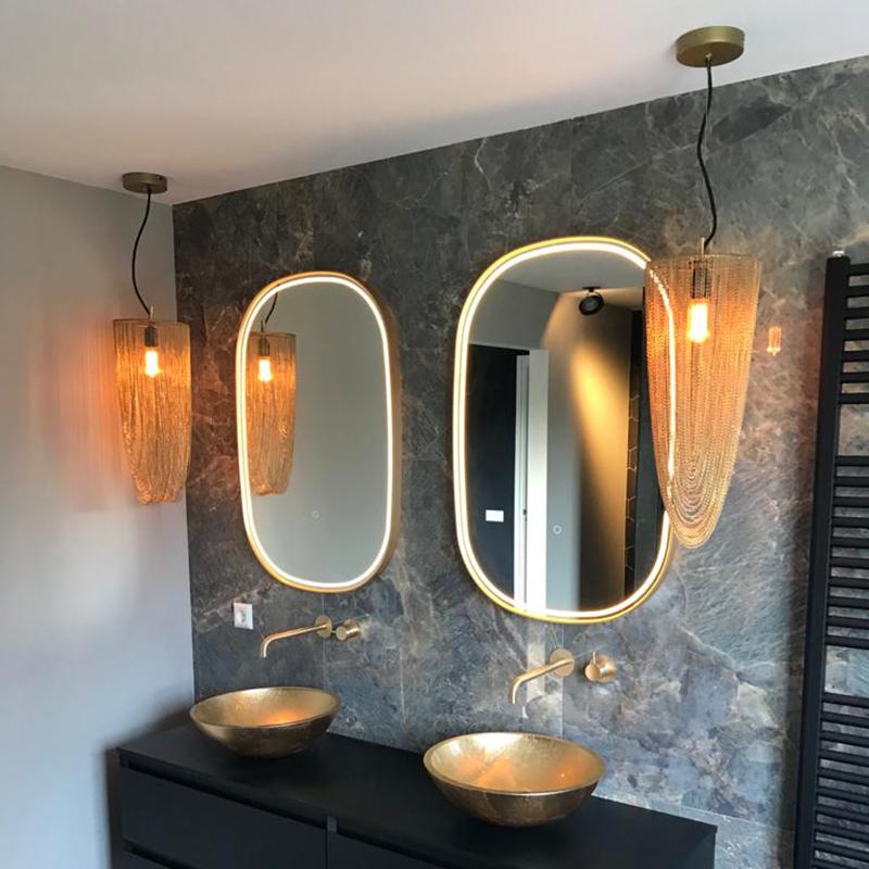 Oosterse hanglamp goud - Catena Ferro