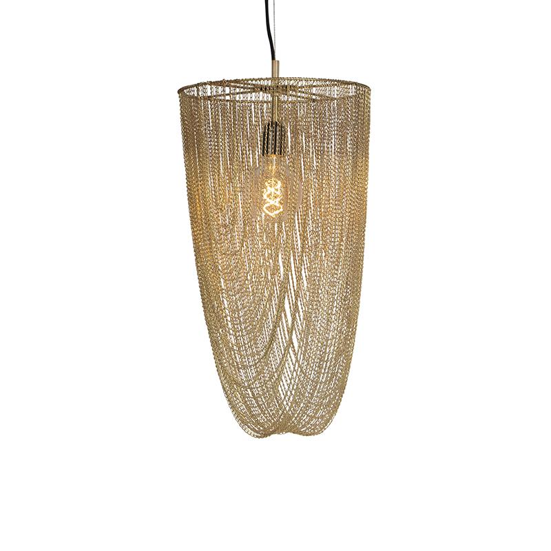 Oosterse hanglamp goud - Catena Nichel