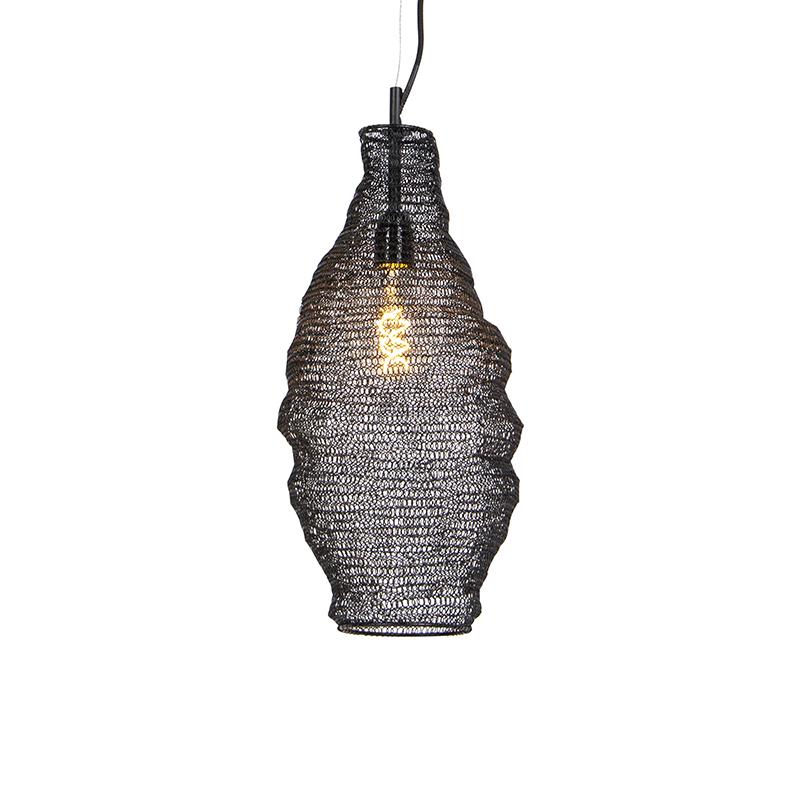 Orientalna lampa wisząca czarna - Nidum Rombo