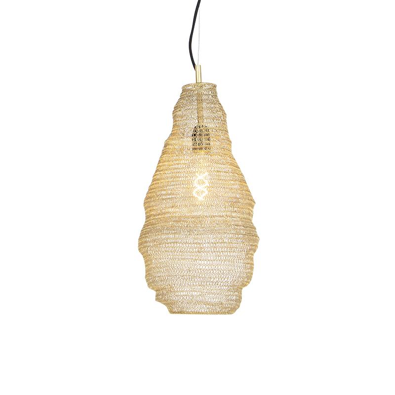 Oosterse hanglamp goud - Nidum Rombo