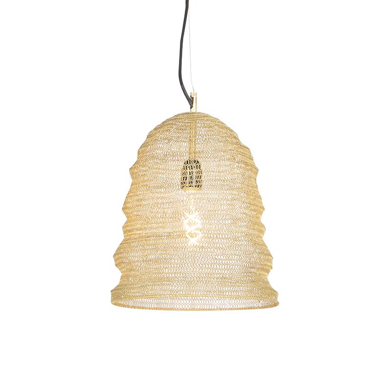 Oosterse hanglamp goud - Nidum Garza