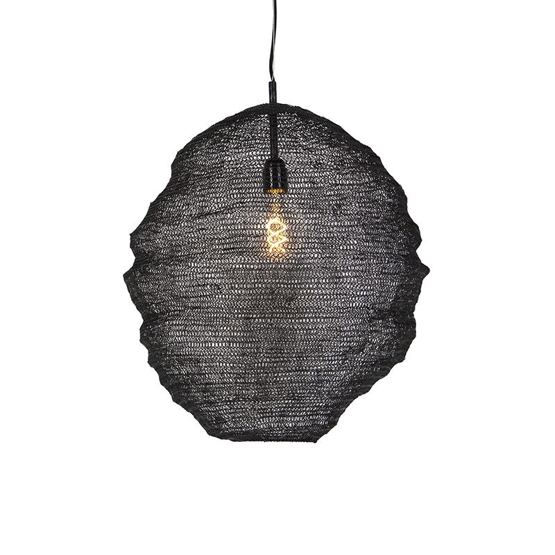 Oosterse hanglamp zwart - Nidum Gran