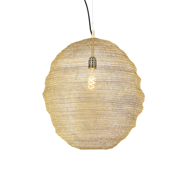Orientalna lampa wisząca złota - Nidum Gran