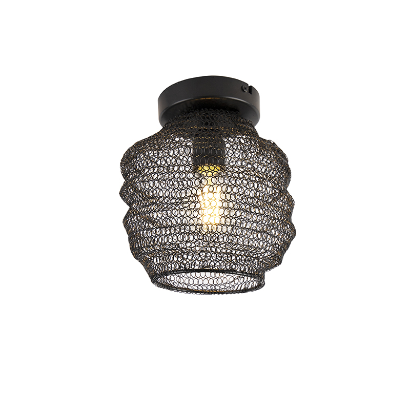 Orientalna lampa sufitowa czarna - Nidum Bene