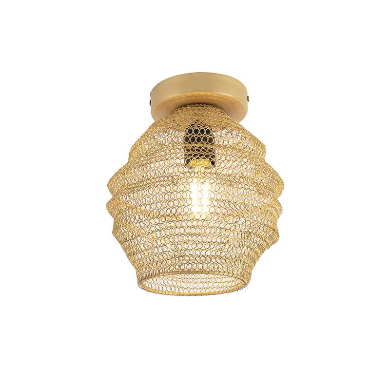 Orientalna lampa sufitowa złota - Nidum Bene