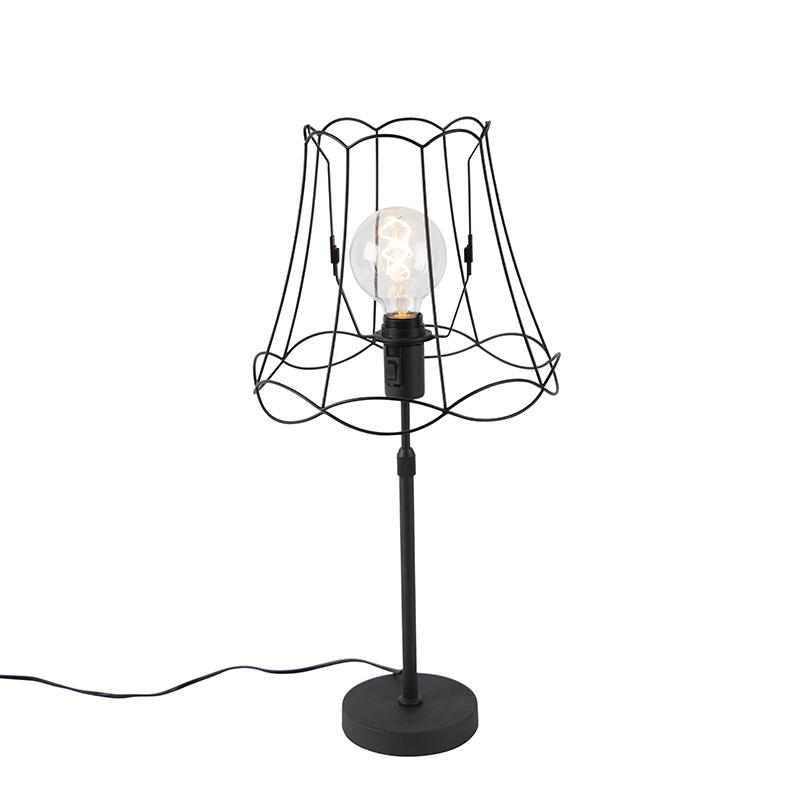 Tafellamp zwart met Granny Frame 30 cm verstelbaar - Parte