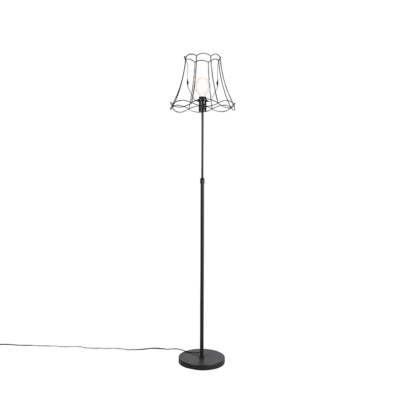 Lampa podłogowa regulowana czarna Granny Frame 35cm - Parte