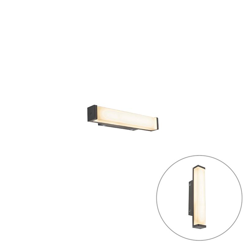 Badkamer wandlamp zwart 32 cm IP44 - Cascada