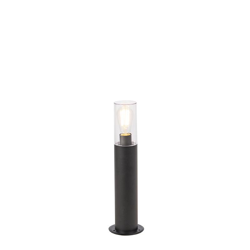 Nowoczesna stojąca lampa zewnętrzna czarna 50 cm - Rullo