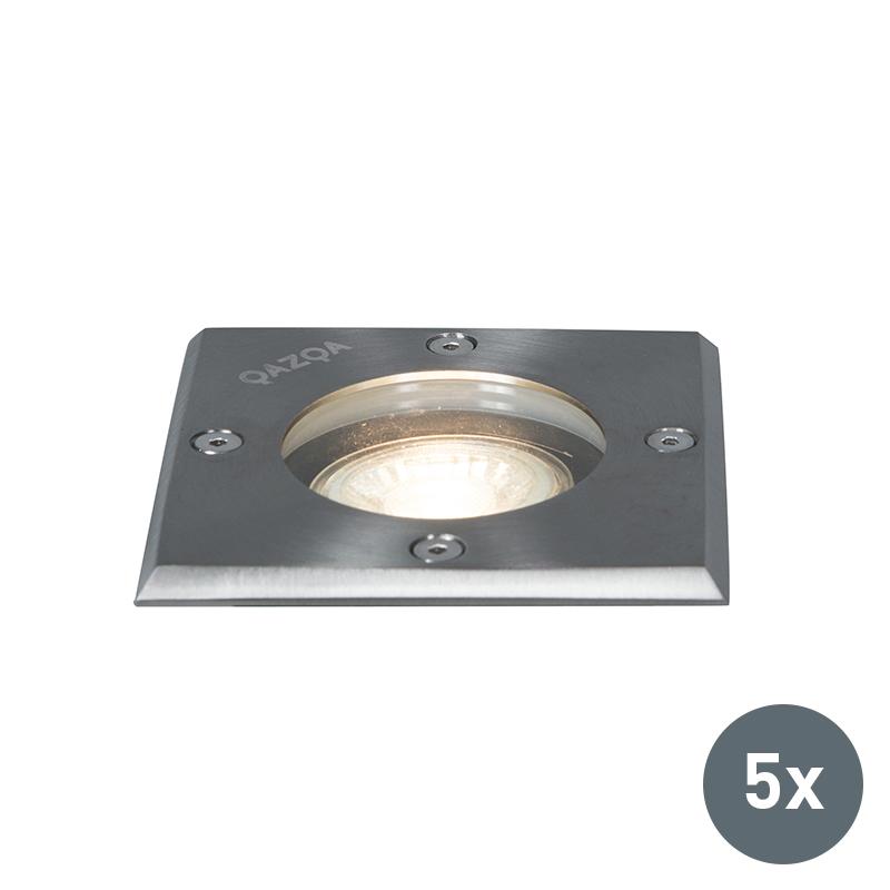 Zestaw 5 x oprawa dogruntowa 10.5cm IP65 - Basic Square