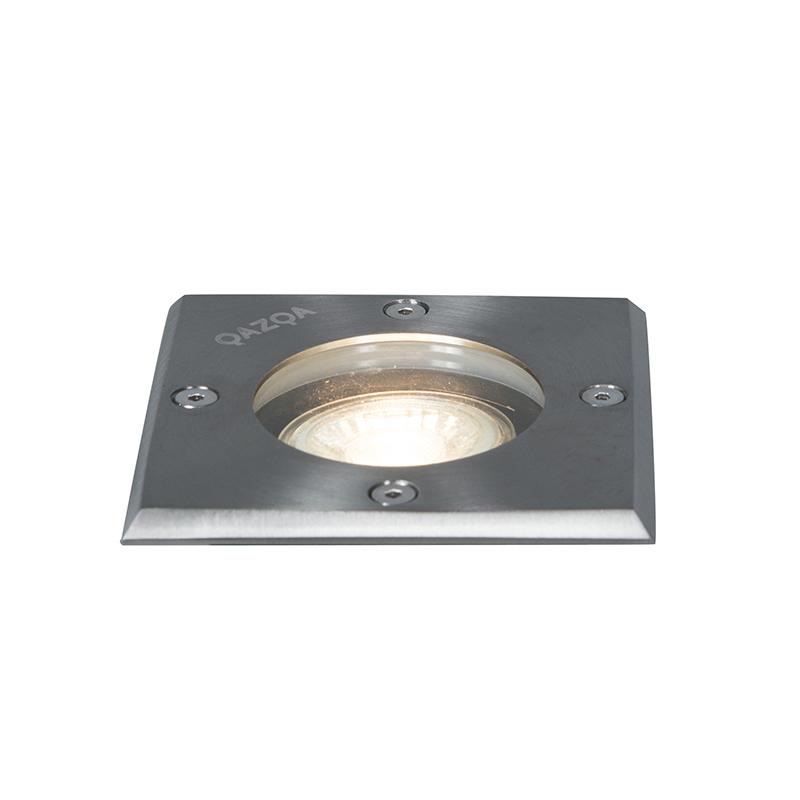 Set van 5 Grondspots staal IP65 - Basic Square
