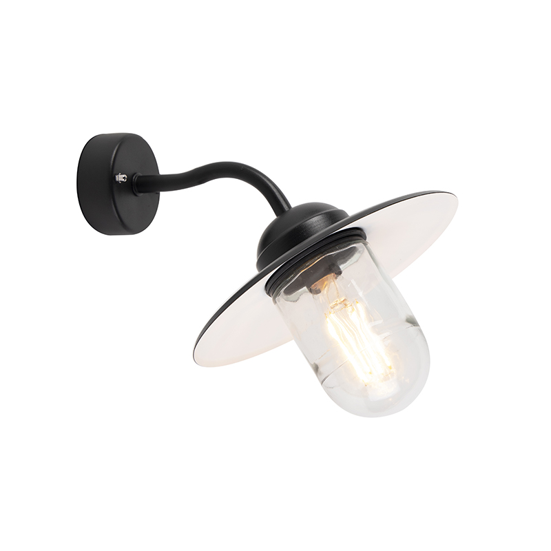 Landelijke wandlamp zwart - Munich