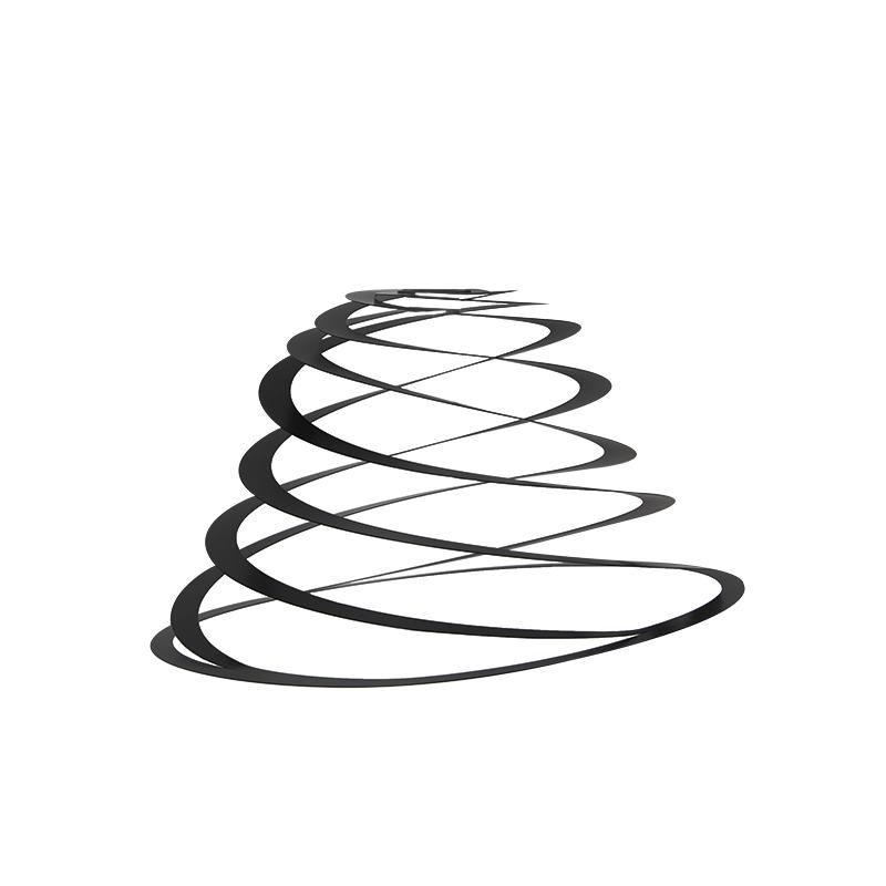 Lampenkap spiraal zwart 50 cm