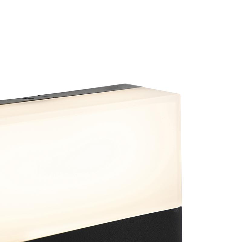 Moderne buitenwandlamp zwart IP44 incl. LED - Dualy