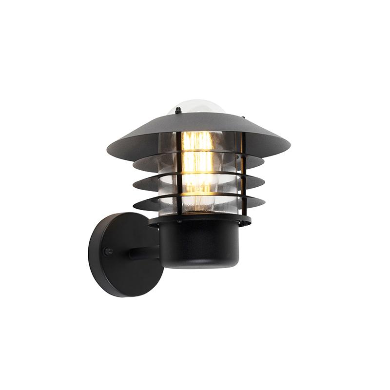 Moderne buitenwandlamp zwart IP44 - Prato Up