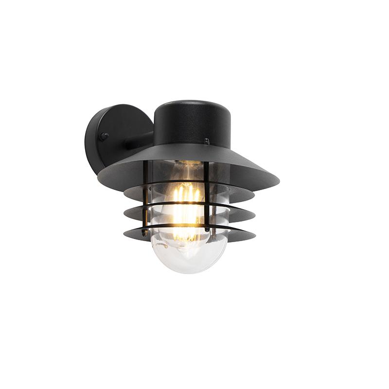 Moderne buitenwandlamp zwart IP44 - Prato Down