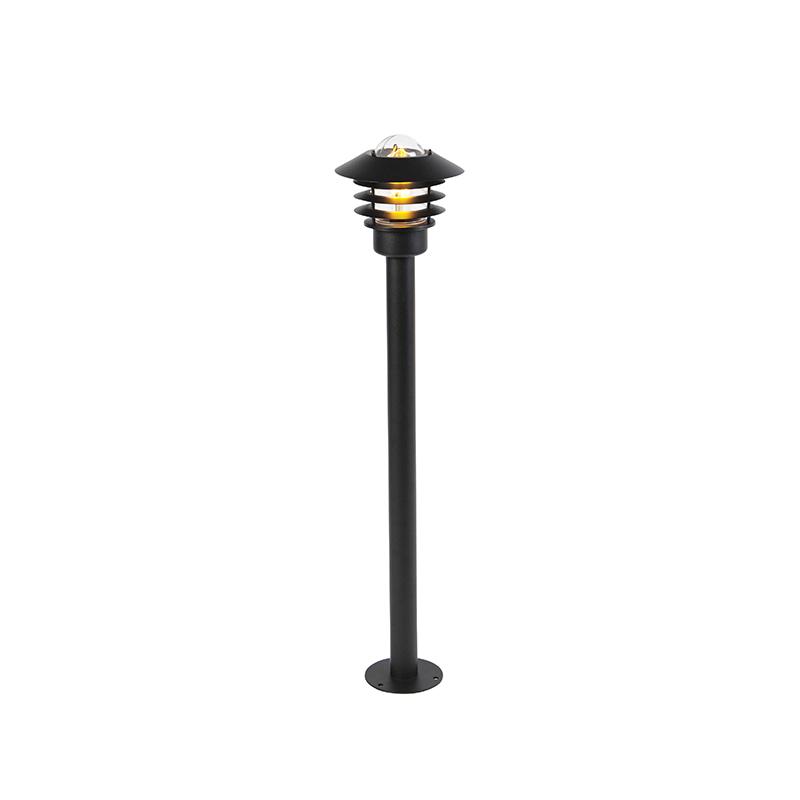 Moderne Buitenlamp Zwart 100 Cm Ip44 - Prato