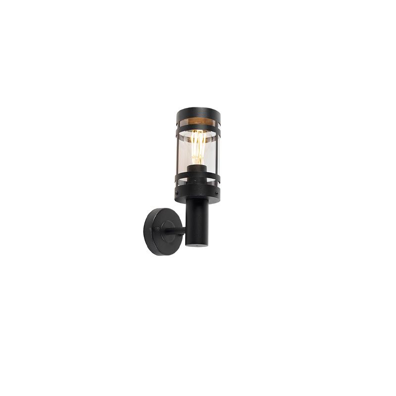 Moderne buitenwandlamp zwart IP44 - Gleam