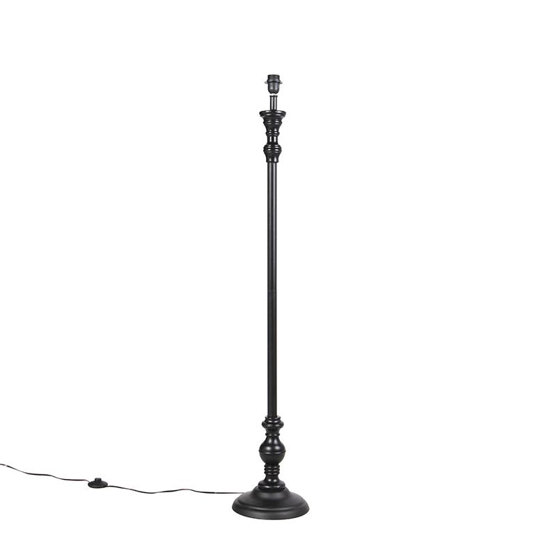 Klassieke vloerlamp zwart - Classico