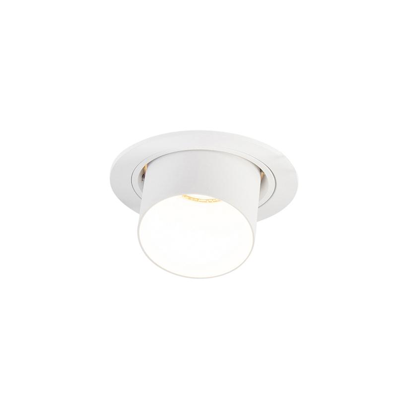 Moderne ronde inbouwspot kantelbaar wit - Installa