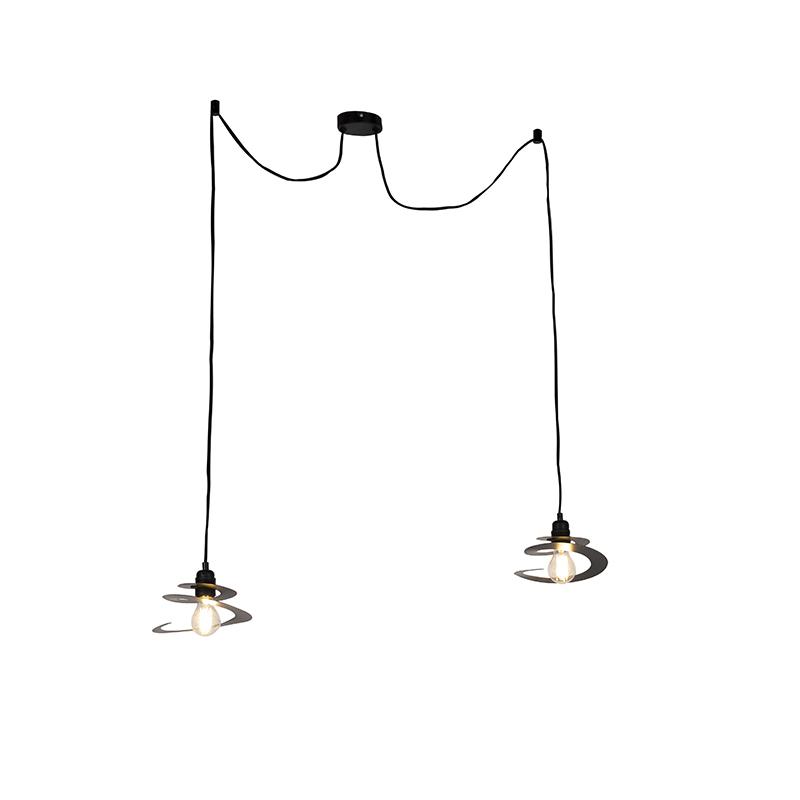 Design hanglamp 2-lichts met spiraal kap 20 cm - Scroll
