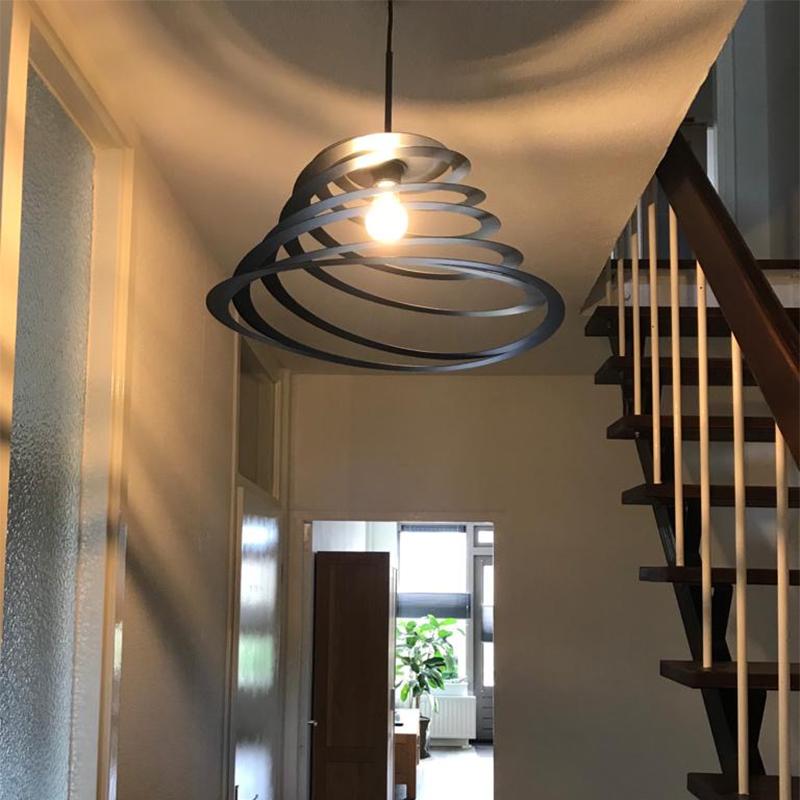 Design hanglamp met spiraal kap 50 cm - Scroll