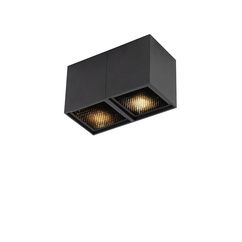 Designerski spot czarny 2-źródła światła - Qubo Honey