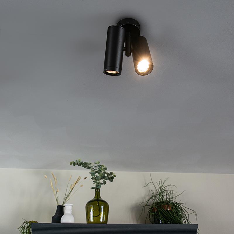 Design spot zwart 2-lichts - Scopio Honey